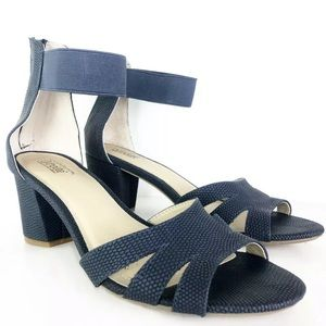 Croft & Barrow Ortholite Sandal Size 9 Blue Ankle